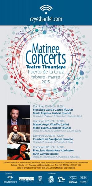 Matinee Concerts febrero - marzo 2015